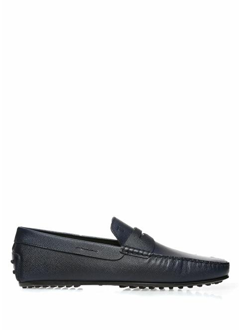 Tod's %100 Deri Loafer Ayakkabı Lacivert